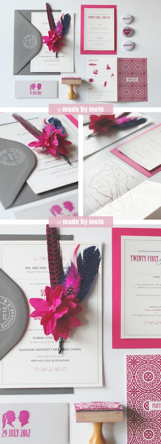 Wedding stationery made by molu mbmour weddinginvitations2 web stopboris Image collections