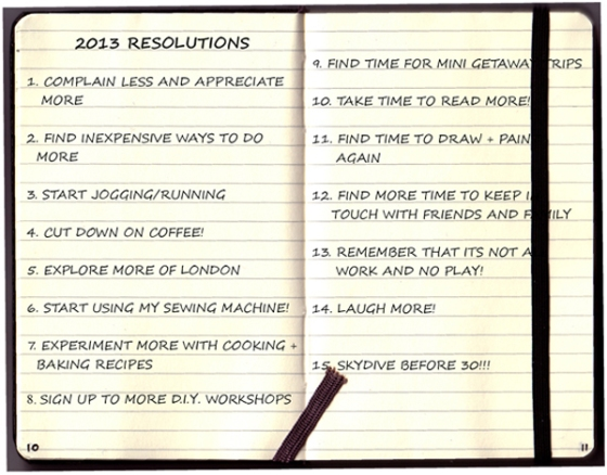 NEW YEARS RESOLUTIONS 2013 low res