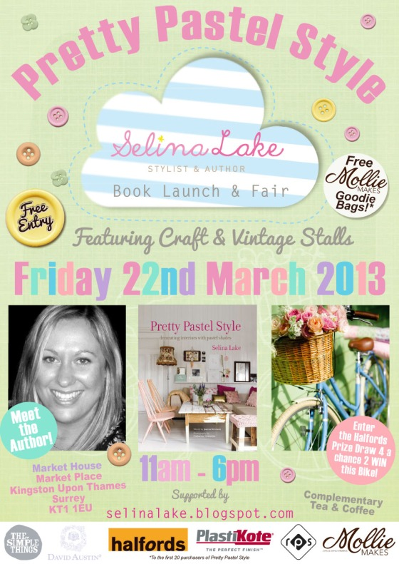 Pretty Pastel Style Book Launch & Fair Flyer