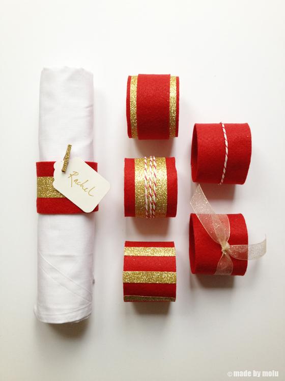 D I Y Christmas Handmade Felt Napkin Ring Holders Made By Molu