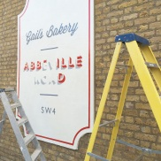 Signage job for Gail's Bakery