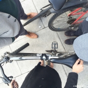 riding about London Town