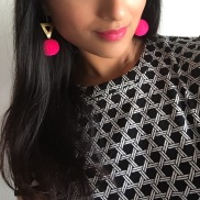 Statement earrings by Benu Made